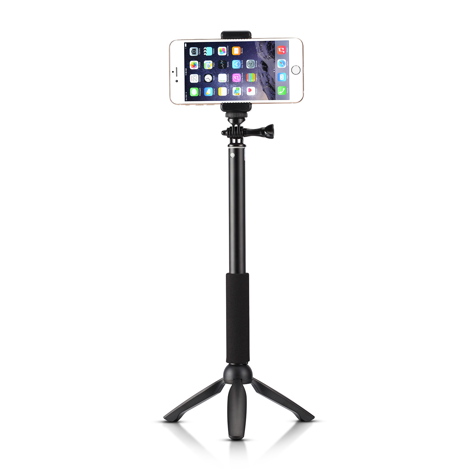 accmor rhythm pro bluetooth selfie stick with mini tripod stand accmor ac. Black Bedroom Furniture Sets. Home Design Ideas